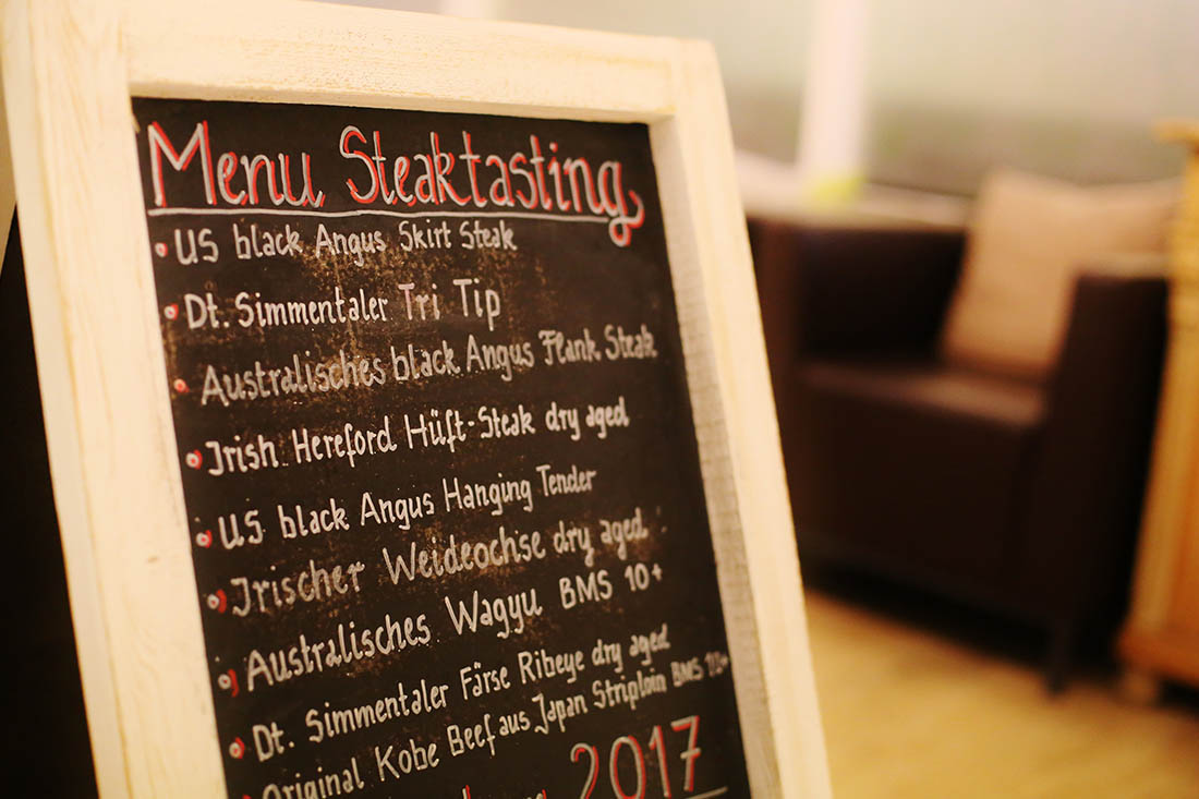 Menue-Steaktasting