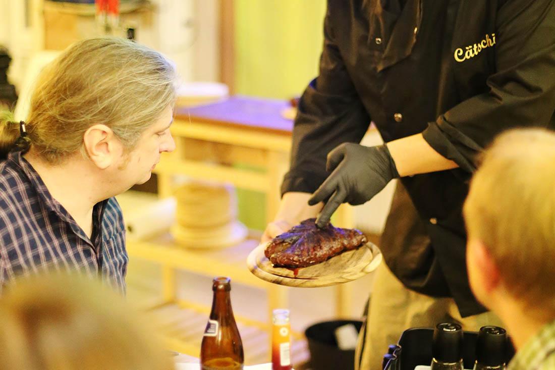 Steak-Praesentation